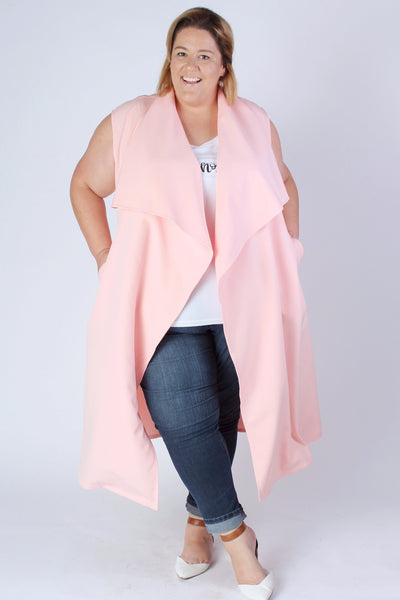 Plus Size Clothing for Women - Chicest Of Them All Vest - Pink - Society+ - Society Plus - Buy Online Now! - 3