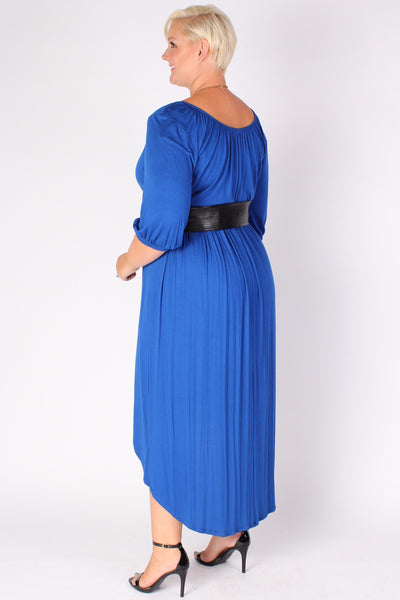 Plus Size Clothing for Women - Flowy High Low Dress - Blue - Society+ - Society Plus - Buy Online Now! - 2