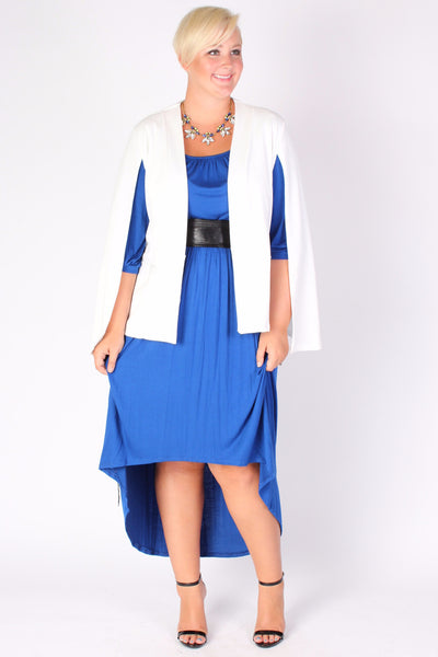 Plus Size Clothing for Women - Flowy High Low Dress - Blue - Society+ - Society Plus - Buy Online Now! - 3