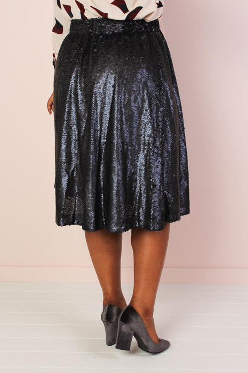 Mermaiden Sequin Skirt - Dark Blue