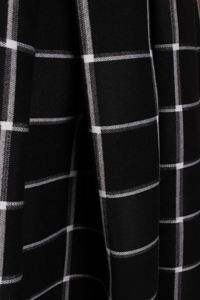 Cher Plaid Skirt - Black/White