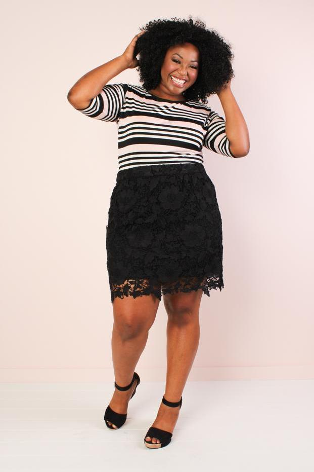 Anne Lace Skirt - Black...