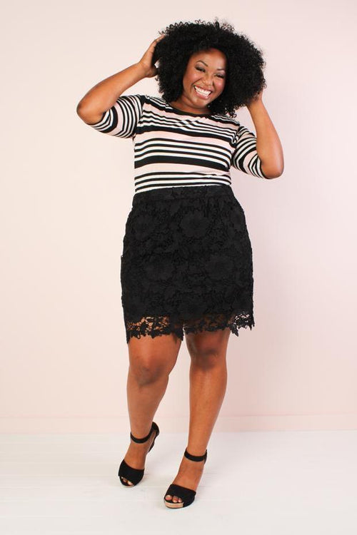 Anne Lace Skirt - Black