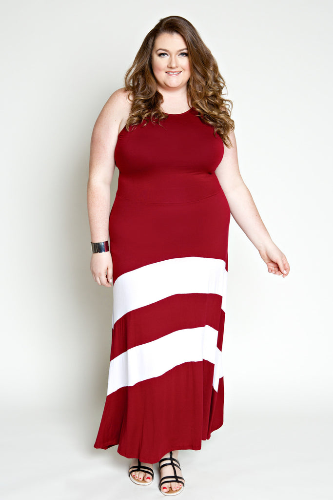 Plus Size Clothing for Women - Jessica Kane Versatile Fall Maxi Dress - Marsala - Society+ - Society Plus - Buy Online Now! - 1