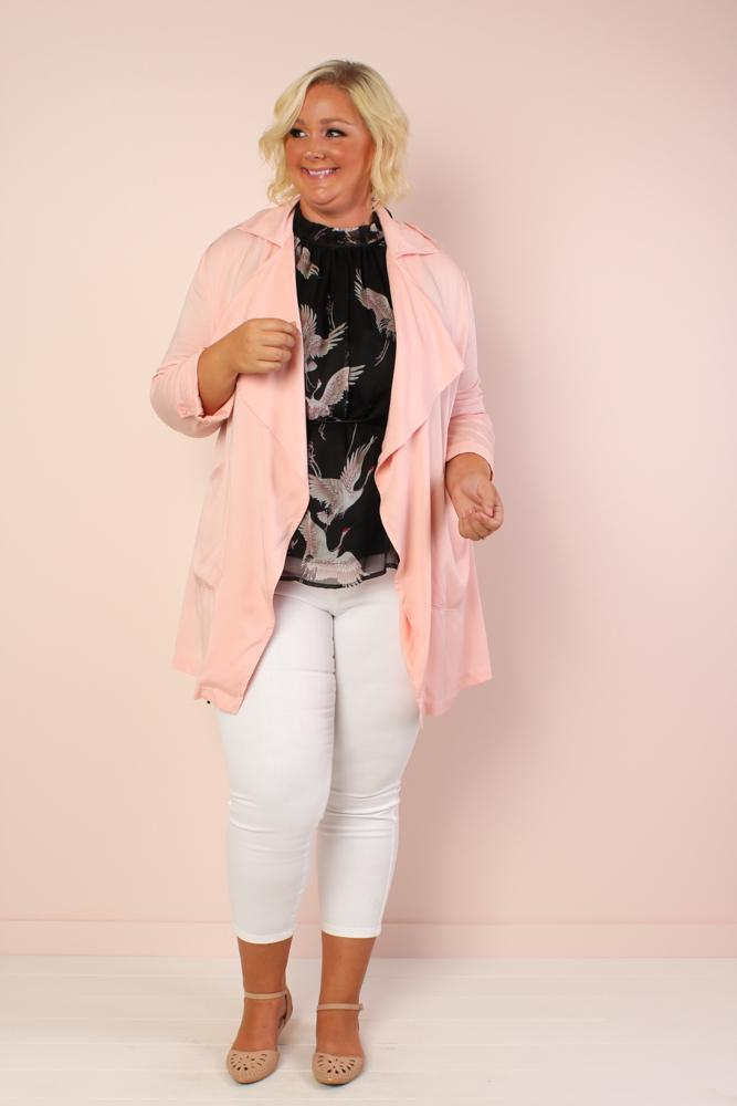 London Drapey Trench - Blush