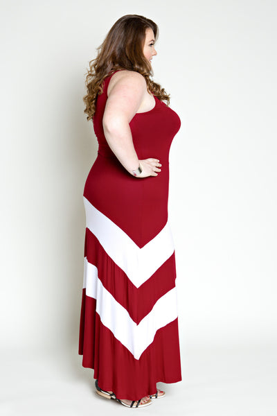 Plus Size Clothing for Women - Jessica Kane Versatile Fall Maxi Dress - Marsala - Society+ - Society Plus - Buy Online Now! - 4