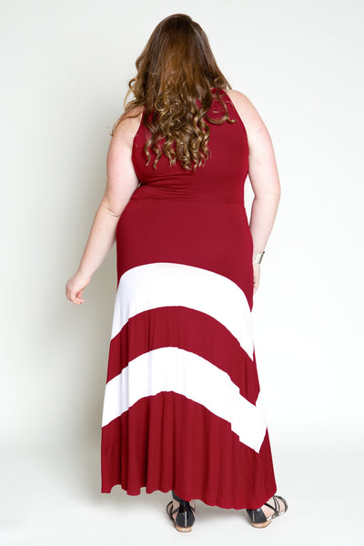 Plus Size Clothing for Women - Jessica Kane Versatile Fall Maxi Dress - Marsala - Society+ - Society Plus - Buy Online Now! - 3