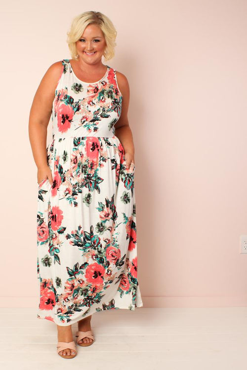 Summer Floral Maxi - Ivory