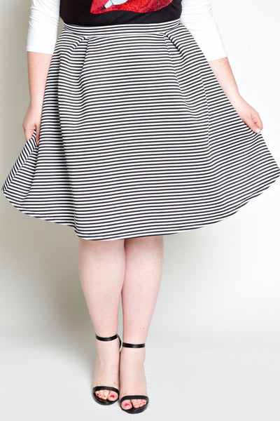 Plus Size Clothing for Women - Seeing Stripes Pleated Skirt - Society+ - Society Plus - Buy Online Now! - 4