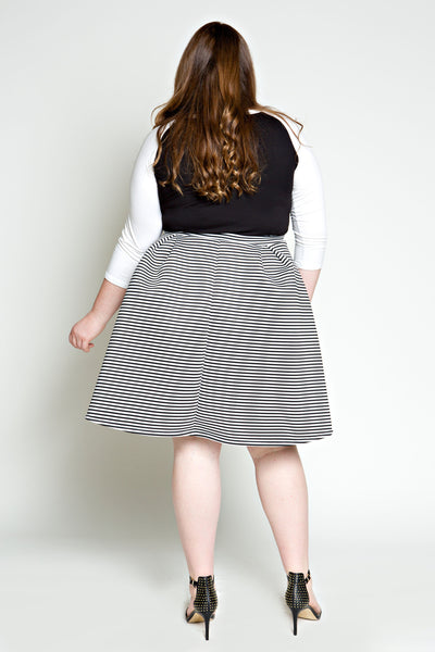 Plus Size Clothing for Women - Seeing Stripes Pleated Skirt - Society+ - Society Plus - Buy Online Now! - 2