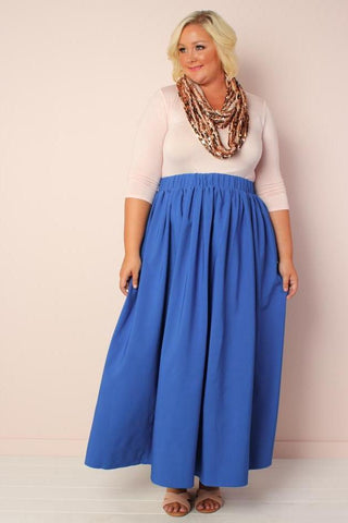 The Kate Midington Skirt  - Blue