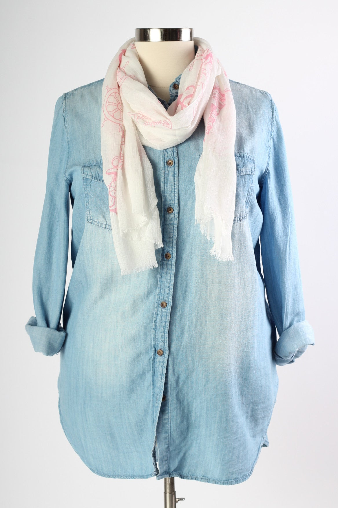 Anchors Away Scarf - Pink