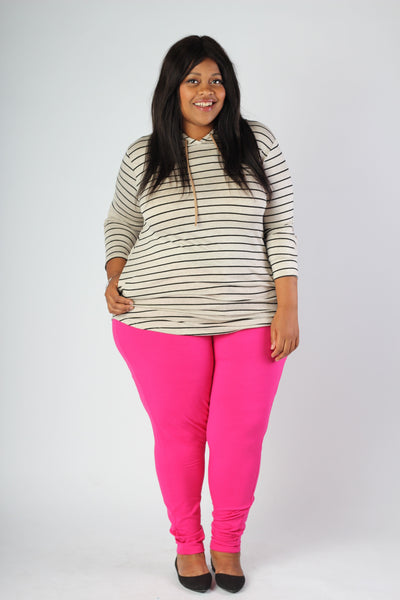 Plus Size Clothing for Women - Dark Pink Leggings - Society+ - Society Plus - Buy Online Now! - 1