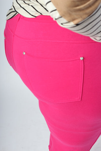 Plus Size Clothing for Women - Dark Pink Leggings - Society+ - Society Plus - Buy Online Now! - 3