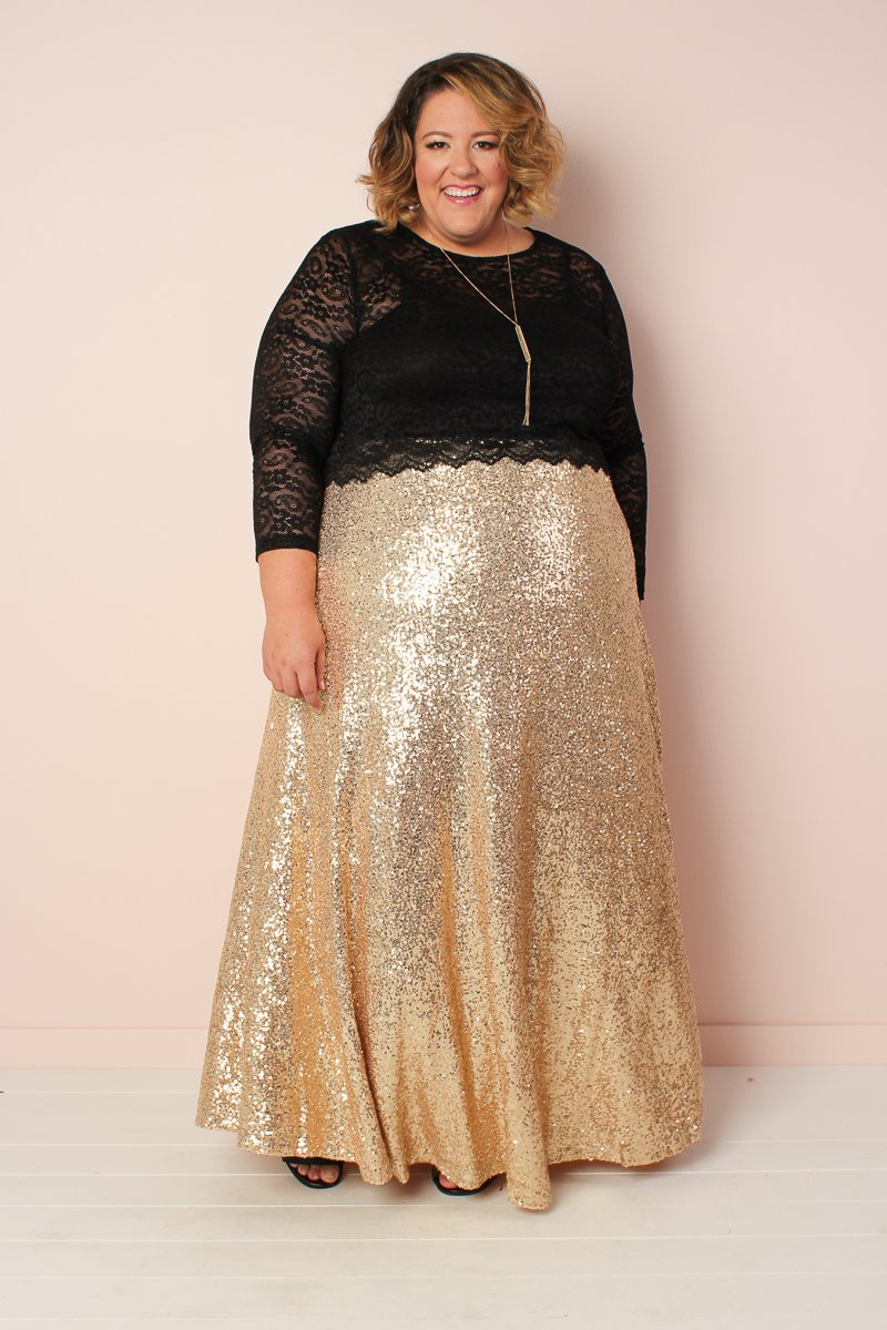 The Showstopper Sequin Maxi Skirt - Gold