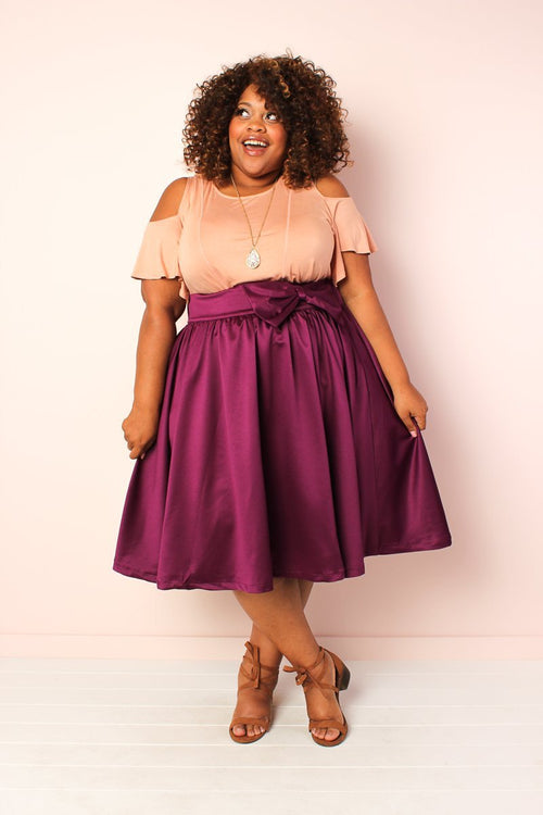 Whimsy Bow Skirt - Plum