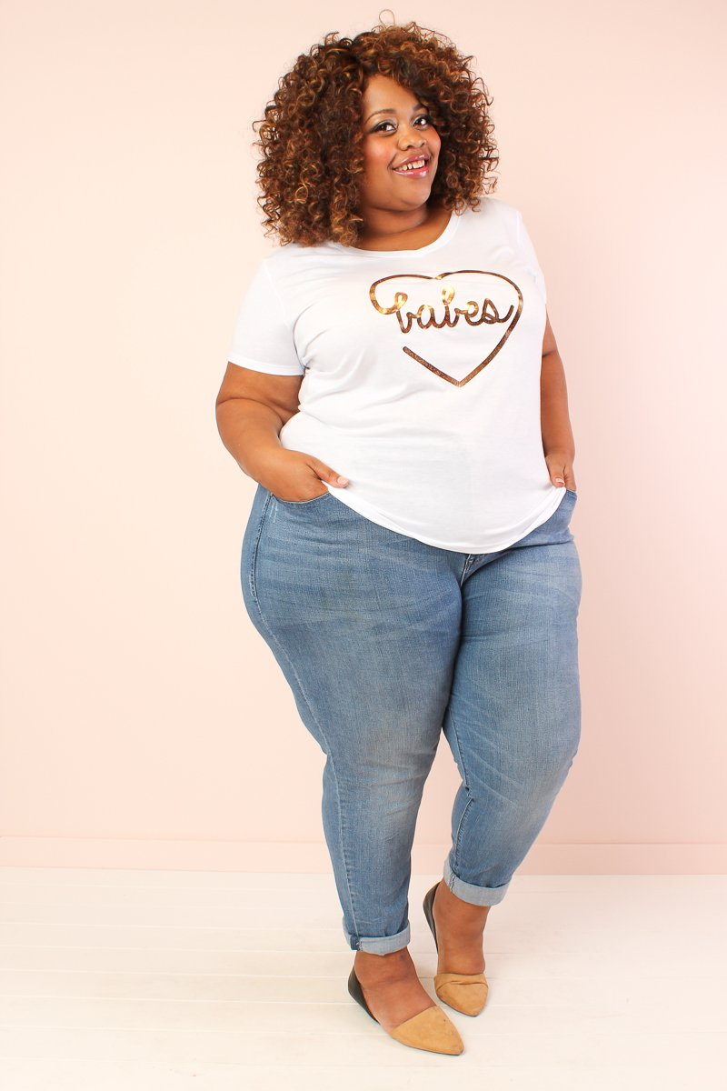 'Babes' Bestie Graphic Tee - White