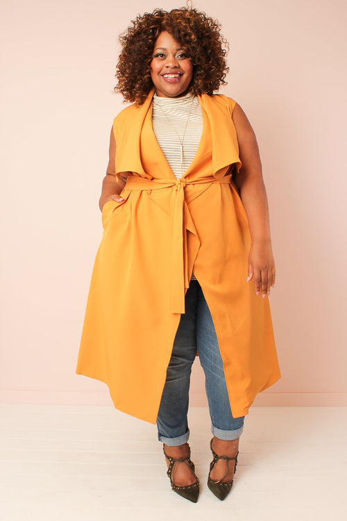 Chicest Of Them All Vest - Mustard
