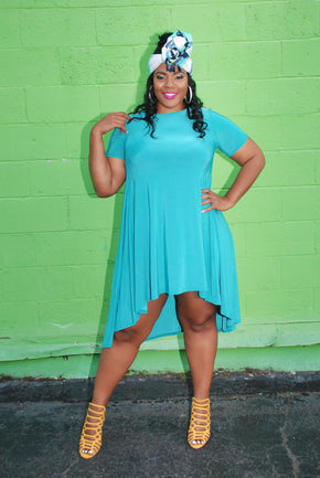 Plus Size Clothing for Women - Darling High Low Dress - Society+ - Society Plus - Buy Online Now! - 1