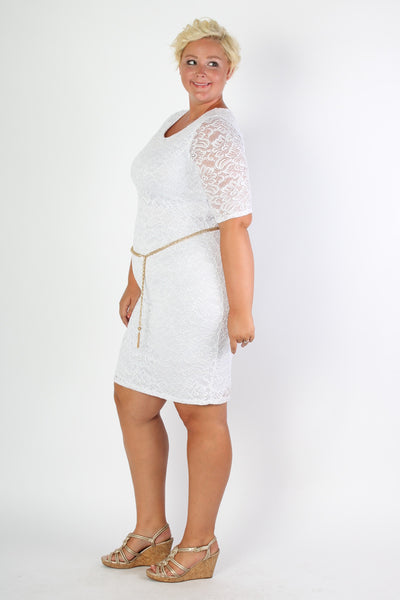 Plus Size Clothing for Women - Floral Lace Mini Dress - Society+ - Society Plus - Buy Online Now! - 2