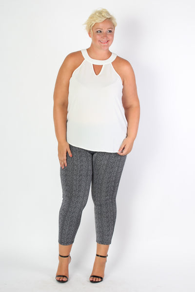 Plus Size Clothing for Women - Patterned Leggings - Society+ - Society Plus - Buy Online Now! - 1
