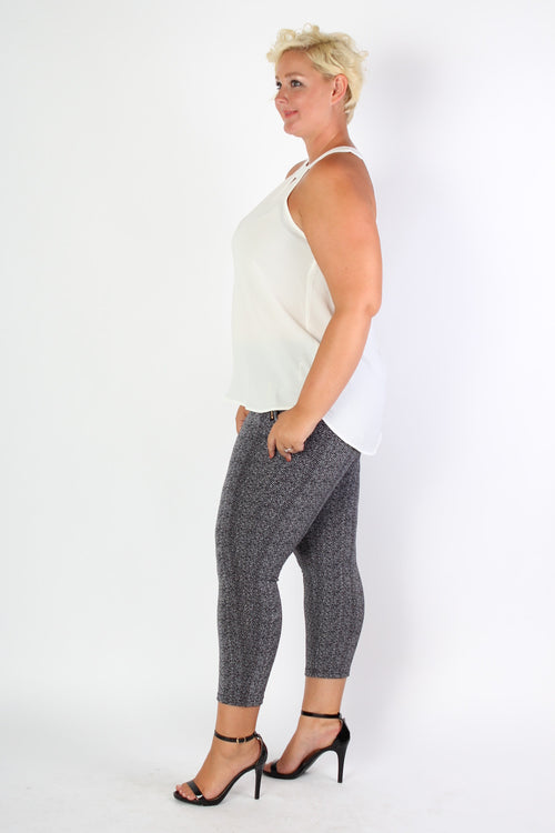 Plus Size Clothing for Women - Patterned Leggings - Society+ - Society Plus - Buy Online Now! - 2