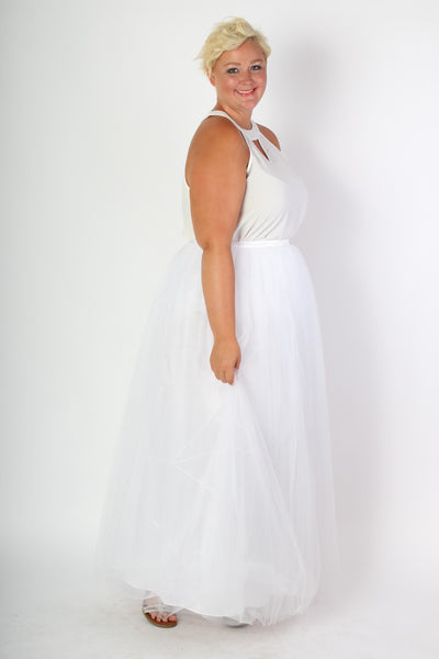 Plus Size Clothing for Women - Society+ Premium Tutu - Long White - Society+ - Society Plus - Buy Online Now! - 2