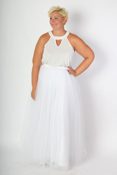 Plus Size Clothing for Women - Society+ Premium Tutu - Long White - Society+ - Society Plus - Buy Online Now! - 3