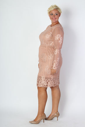 Plus Size Clothing for Women - Blush Lace Skirt - Society+ - Society Plus - Buy Online Now! - 1