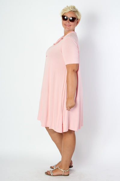 Plus Size Clothing for Women - Bubblegum Bow Tie Dress - Society+ - Society Plus - Buy Online Now! - 2