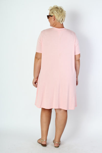 Plus Size Clothing for Women - Bubblegum Bow Tie Dress - Society+ - Society Plus - Buy Online Now! - 3