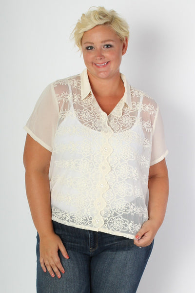 Plus Size Clothing for Women - Pretty Pear Bride Jamie Top - Society+ - Society Plus - Buy Online Now! - 1