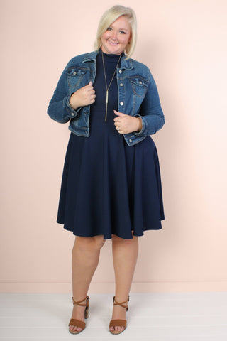 You, Me, & A Cup of Tea Cardi - Navy