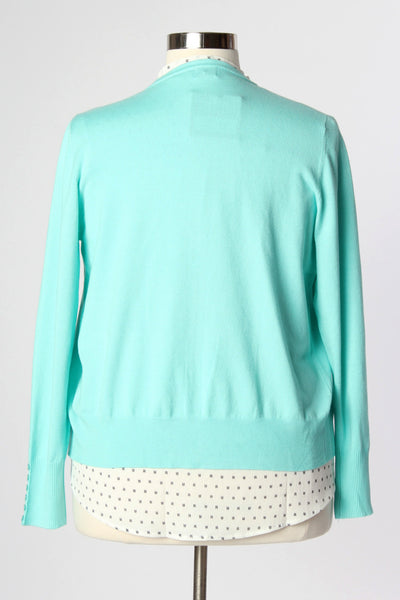 Plus Size Clothing for Women - Chronicles of Chic Cardigan - Mint - Society+ - Society Plus - Buy Online Now! - 4