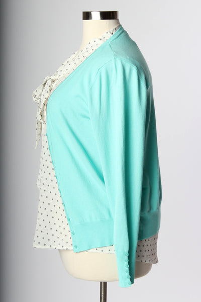 Plus Size Clothing for Women - Chronicles of Chic Cardigan - Mint - Society+ - Society Plus - Buy Online Now! - 3