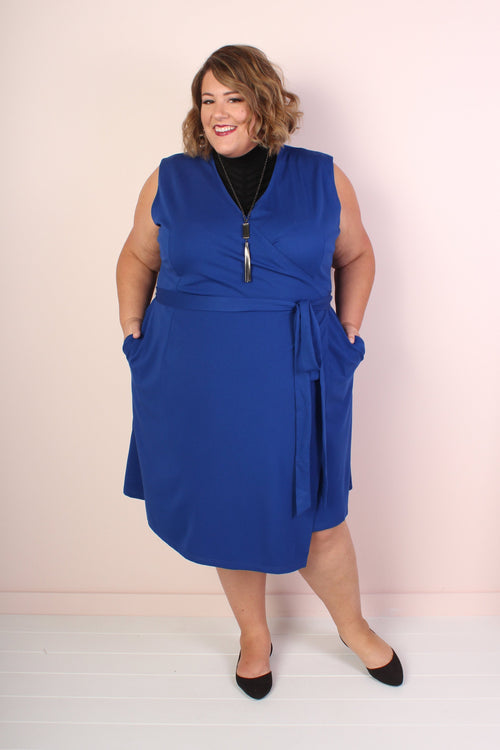 The Power Dress - Cobalt Blue