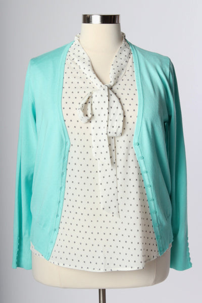 Plus Size Clothing for Women - Chronicles of Chic Cardigan - Mint - Society+ - Society Plus - Buy Online Now! - 2