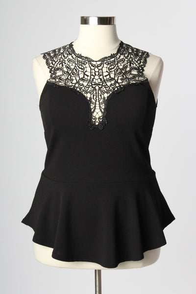 Plus Size Clothing for Women - Love for Peplum Top - Black - Society+ - Society Plus - Buy Online Now! - 2