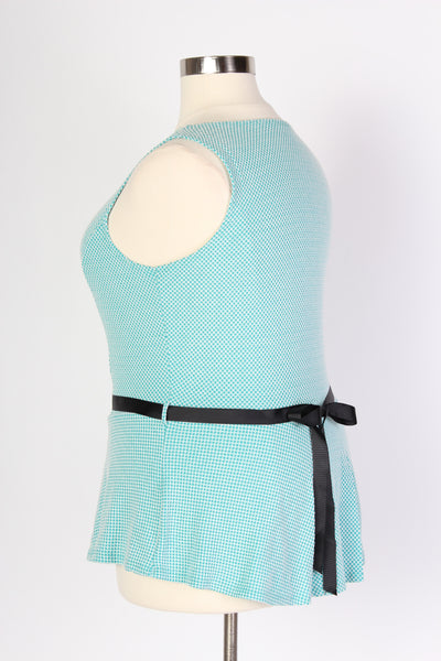 Plus Size Clothing for Women - Aqua Peplum Top with Belt - Society+ - Society Plus - Buy Online Now! - 3