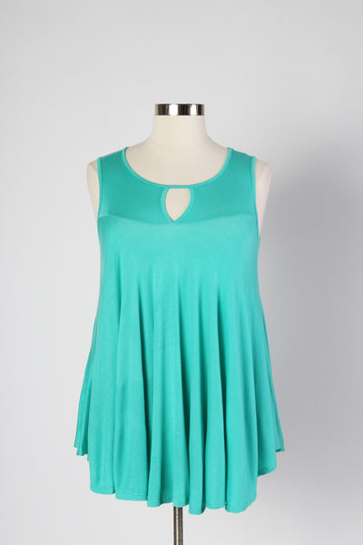 Plus Size Clothing for Women - Sleeveless Flare Tunic - Mint - Society+ - Society Plus - Buy Online Now! - 2