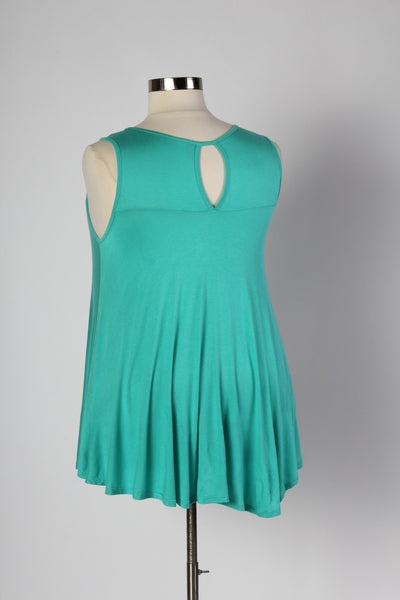 Plus Size Clothing for Women - Sleeveless Flare Tunic - Mint - Society+ - Society Plus - Buy Online Now! - 3