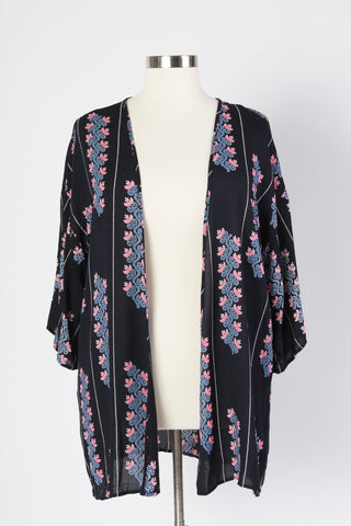 Plus Size Clothing for Women - Wanderous Woman Kimono - Navy - Society+ - Society Plus - Buy Online Now! - 1