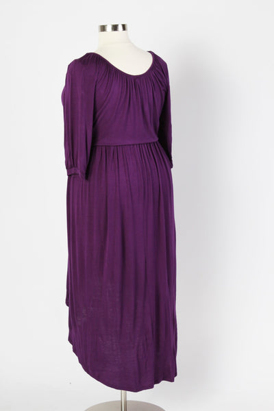 Plus Size Clothing for Women - Flowy High Low Dress - Purple - Society+ - Society Plus - Buy Online Now! - 4