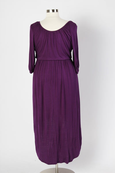 Plus Size Clothing for Women - Flowy High Low Dress - Purple - Society+ - Society Plus - Buy Online Now! - 5