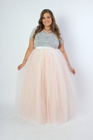 Plus Size Clothing for Women - Premium Tutu - Long Blush - Society+ - Society Plus - Buy Online Now! - 1