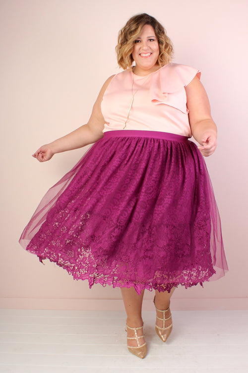 Violette Lace & Tulle Skirt * *FLASH SALE WEEKEND DEAL!* *  Ends 9/23/18
