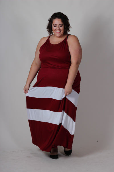 Plus Size Clothing for Women - Jessica Kane Versatile Fall Maxi Dress - Marsala - Society+ - Society Plus - Buy Online Now! - 6