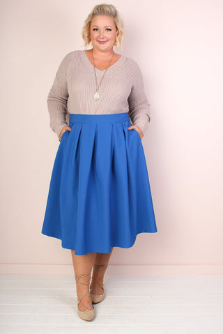 Blue Twirl Maxi Skirt