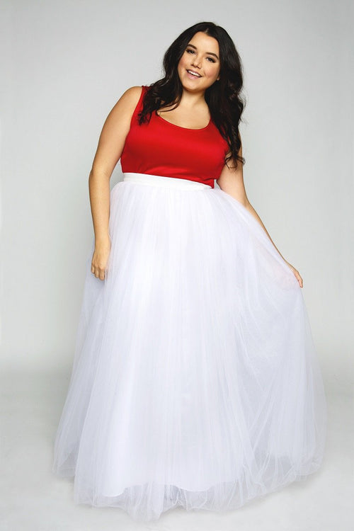 Plus Size Clothing for Women - Society+ Premium Tutu - Long White - Society+ - Society Plus - Buy Online Now! - 1
