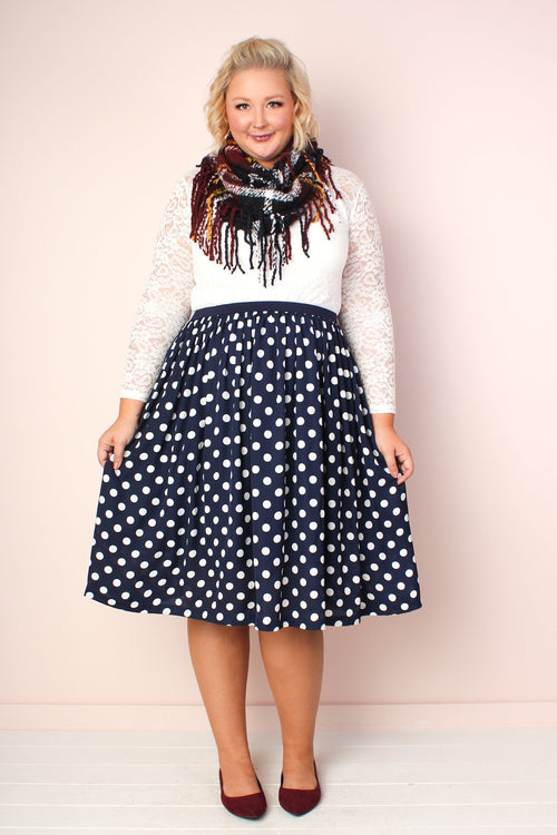 Makena Polka Dot Skirt